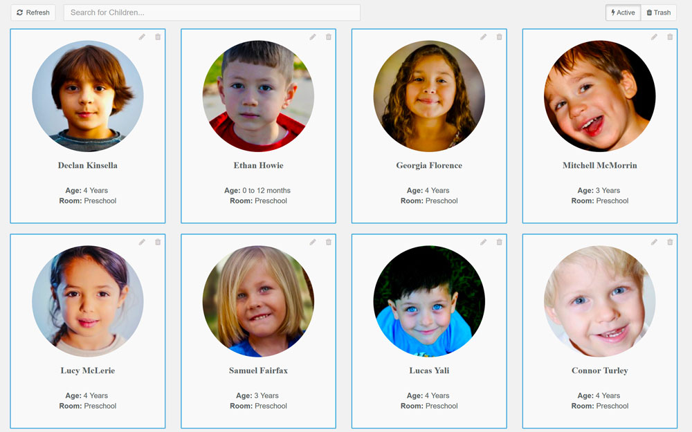 Long Daycare App Children