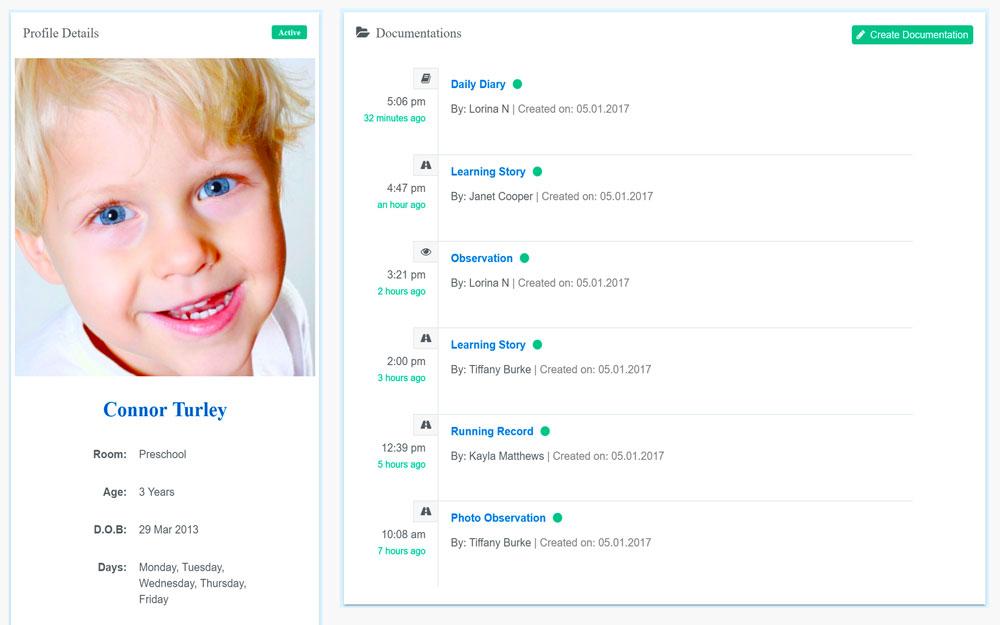 Childcare App Children Profile