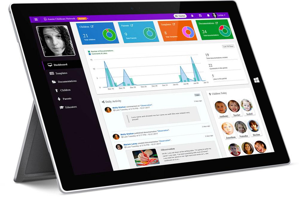 Childcare Web App Dashboard