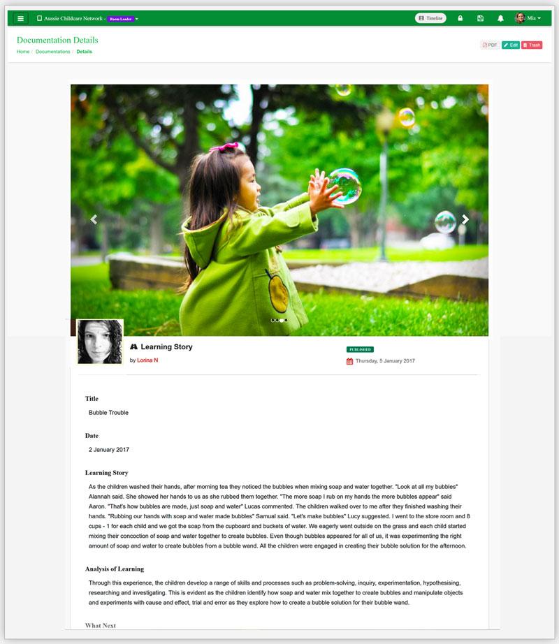 Documentation App Learning Story App
