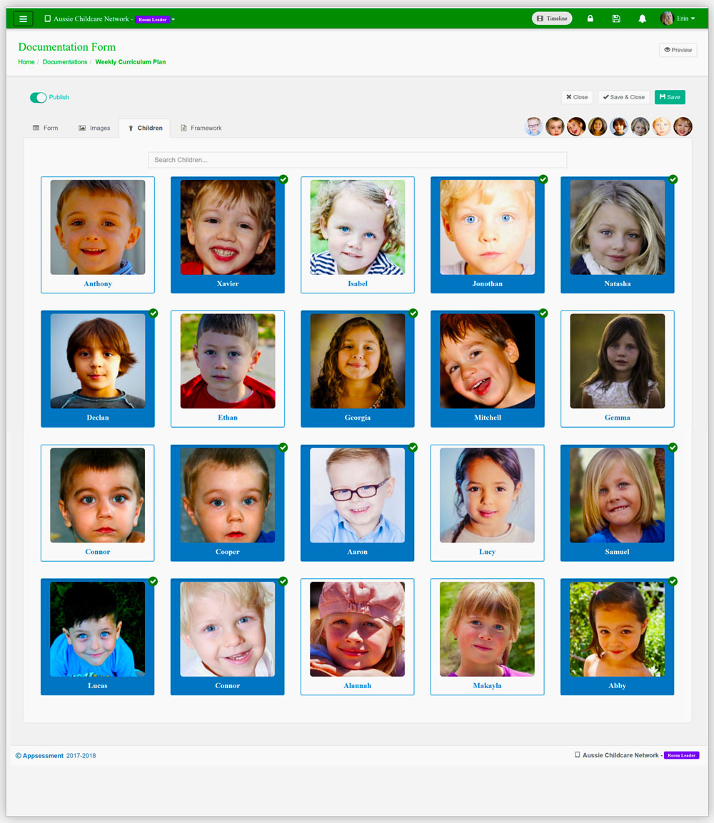 FDC App Documentation Children App