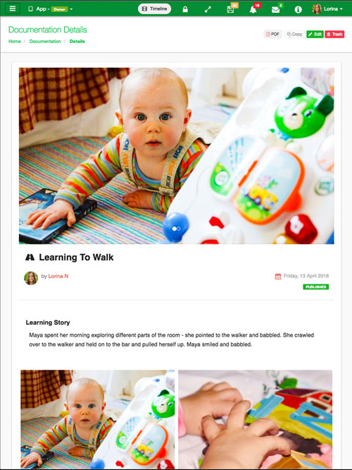Learning Story App
