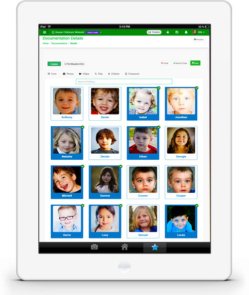 Child care Mobile App
