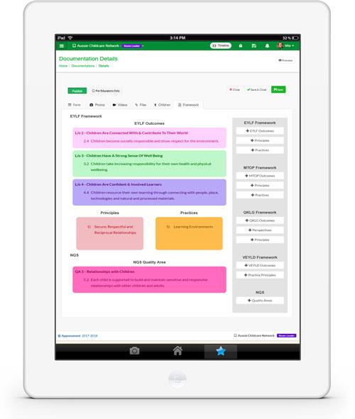 Australian Framework Childcare App