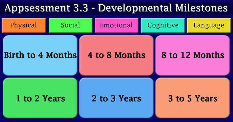 Childcare App Child Developmental Milestones Framework