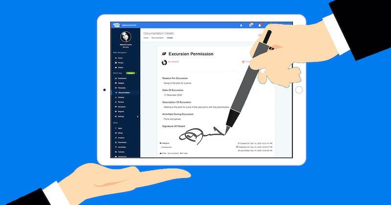 Childcare App Digital Signatures